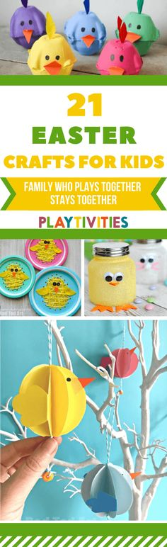 21 best Easter craft ideas for kids. These Easter crafts are super easy to make and you can create it using pretty much anything! Grab a cup of tea or coffee and start exploring Easter crafts for kids idea land! Diy Easter Toys, Easter Crafts For Kids, Easter Play, Easter Activities For Kids, Easter Games, Family Activities, Egg Carton Crafts, Super Easy, Craft Ideas