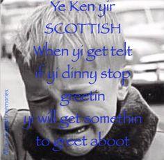 LOL yes! Scotland Funny, Scotland Trip, Glasgow Scotland, Scotland Travel, Edinburgh, Epic One Liners, Scottish Sayings, Clan Macleod, Humor