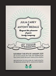 Eclectic letterpress wedding invitation, mixing fonts, styles and imagery. #nmweddingblog