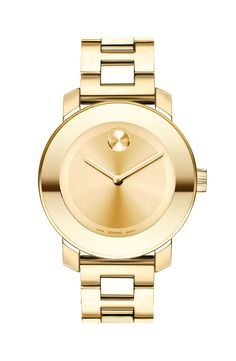 Loving this gorgeous gold Movado timepiece.