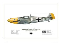 Bf.109E-4 , 7./JG 53,Serial: 6+| ,Pilot - Lt.Herbert Schramm. December 1940. For a short time aircraft of III Group (7./8./9.staffel) don't wore swastika. It was protest of pilots against reproach of Luftwaffe command.