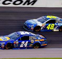 Chase Elliott and Jimmie Johnson