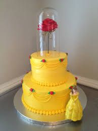 Image result for 3 tier buttercream princess cake Beauty and the Beast cake