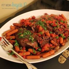 Slow Cooked Red Wine Pot Roast | 21 Day Fix Approved | Holiday Meal and family favorite! | Clean Eats | Fit Mom Angela D