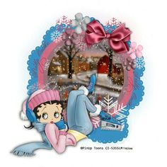 Betty Boop - oops! So cute & how we feel lately WITHOUT the skates, lol