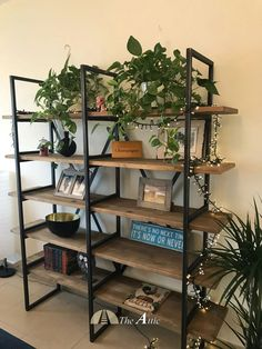 Cool ideas for bringing this industrial shelf to life!
