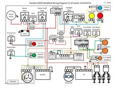 Electrical wiring diagram of motorcycle detailed examination of a typical motorbike wiring diagram. aimed at the motorcycle owner who needs to read and understand his wiring diagram to aid with electrical fault finding, and general . Motorcycle Wiring, Motorcycle Lights, Motorcycle Headlight, Motorcycle Design, Motorcycle Cover, Motos Honda, Yamaha Motorcycles, Custom Motorcycles, Electrical Symbols