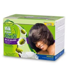 Soft 'n Free GroHealthy Milk Protein and Olive Oil - No-Lye Relaxer Kit - Regular (Pack of 2) -- This is an Amazon Affiliate link. You can find out more details at the link of the image.