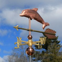 Copper Dolphin Weathervane from the Weathervane Factory