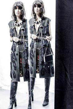 Jamie Bochert and Mica Arganaraz for Lanvin Pre-Fall 2015