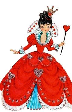 Alice in Wonderland: Queen of Hearts Vintage Valentine My Funny Valentine, Valentine Images, Vintage Valentine Cards, Vintage Greeting Cards, Love Valentines, Vintage Holiday, Valentine Crafts, Valentine Day Cards, Vintage Postcards