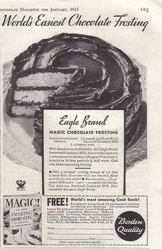 Eagle Brand Magic Chocolate Frosting~1935