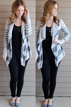 Leggings/jeggings, tank top, and big comfy sweater. Perfect casual weekend/