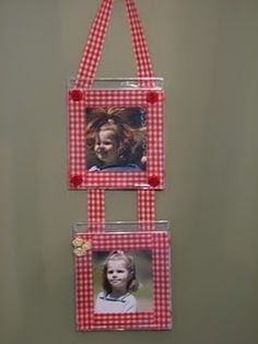 Make some picture frames using CD jewel cases.