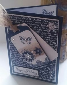 Stampin' Up! Demonstrator stampwithpeg – Quick Card using pre-made tag - Grateful Bunch