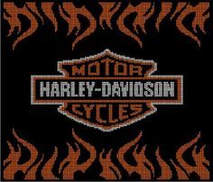 Harley Davidson - A3 via Loopaghans Custom Crochet. Click on the image to see more!