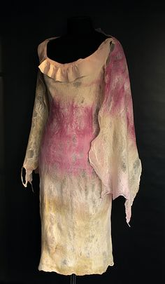 Nuno Felted Dress With Wrap