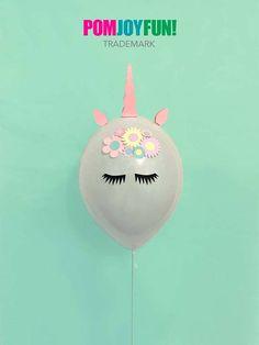 Unicorn Balloons, Unicorn Party Balloons 11 Inch, Unicorn Party Decor and Birthday Decor, Unicorn Balloon Kit by PomJoyFun on Etsy (Diy Decoracion Fiestas) Unicorn Pinata, Unicorn Balloon, Unicorn Party, Unicorn Horns, Unicorn Themed Birthday Party, First Birthday Parties, Birthday Party Decorations, Unicorn Centerpiece, Little Pony Party