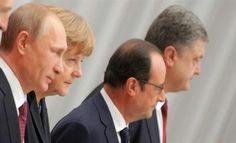 Σε «νέα ώθηση» στην εκεχειρία συμφώνησαν Πούτιν - Ολάντ - Ποροσένκο - Μέρκελ ~ Geopolitics & Daily News