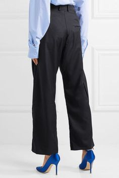 Vetements - Brioni Cropped Wool-twill Pants - Navy - medium