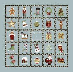 Motifs de Noël - grille gratuite
