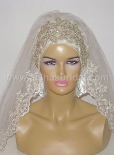 Ready To Wear Bridal Hijab Code HGT354 by HAZIRTURBAN on Etsy