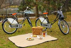 """NEW YORK hotel w/ complimentary Republic Bikes custom designed by Jacques Grange include signature black helmets, baskets and bells; """"For the ultimate picnic in Central Park, enjoy a 'lunch-to-go' created by celebrated chef Jean-Georges Vongerichten. The gourmet picnic basket includes all the picnic essentials – blanket, cutlery and condiments. As a finishing touch, The Mark's award-winning chef concierge, Isabelle Hogan, has curated an illustrated bike map to help guests navigate Central…"""