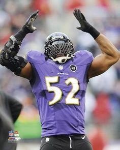 Ray Lewis The Last Game Arms Up Photo