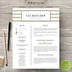 Modern Resume & Cover Letter Template --- Editable word format (#16)  #resumetemplate #career #jobsearch #personalbranding