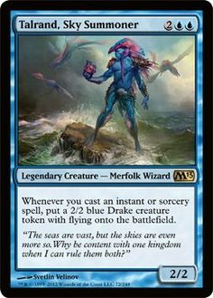 Magic: the Gathering - Talrand, Sky Summoner (72) - Magic 2013 by Wizards of the…