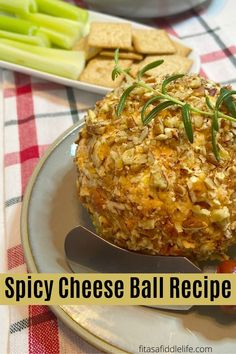 Want a delicious spicy cheeseball that is simple to put together. This one is made with lower fat cheese and comes together in about 15 minutes. fitasafiddlelife.co Cheese Ball Recipes, Dip Recipes, Low Fat Cheese, Balls Recipe, Side Dishes, Spicy, Healthy, Simple, Food