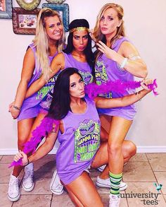 Just a little Mardi Gras themed Bid Day with | Gamma Phi Beta | Made by University Tees | www.universitytees.com