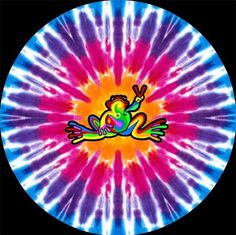 ☮ American Hippie Art Quotes ~ Peace  ☮ TIE DYE PEACE FROG mandala