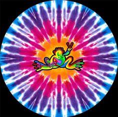 ☮ American Hippie Art Quotes ~ Peace  ☮ TIE DYE PEACE FROG mandala