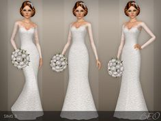 Wedding dress 40 by BEO - Sims 3 Downloads CC Caboodle
