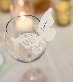 Wedding guest cards, butterfly - Winietki