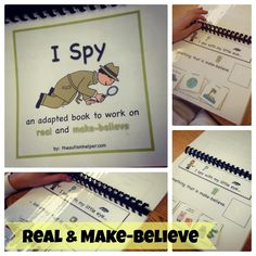 Identifying Real & Make-Believe in a super fun way! Your kiddos will be rolling on the floor laughing & learning. By theautismhelper.com