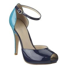 #Peep toe pump with ankle strap.