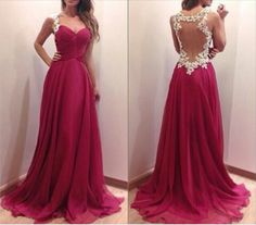 Charming Burgundy Sweetheart Floor Length Prom Dress with Lace Blackless Detalis, Handmade Prom Dresses 2015, Prom Dresses, Evening Dresses 2015