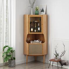 Corner Sideboard, Corner Cabinet Dining Room, Sideboard Cabinet, Corner Hutch, Kitchen Dining, Armoire Buffet, Armoire D'angle, Bed Furniture, Living Room Furniture