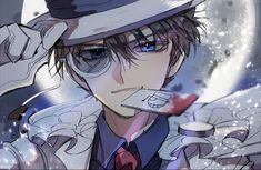 Anime Boy Sketch, Anime Drawings Sketches, Cute Drawings, Conan Movie, Detektif Conan, Magic Kaito, Handsome Anime Guys, Cute Anime Guys, Detective