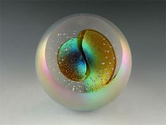Cat's Eye Nebula. Celestial Series. Art-Glass Paperweight by 'Glass Eye Studio'♥≻★≺♥