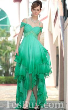S  Green High Low Prom Dresses 2012 - Prom Dresses 2012_Plus Size Prom                                                                                       Dress_Plus Size Wedding Dress-                          comes in Silver or white    TesBuy.com