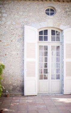 White shutter doors
