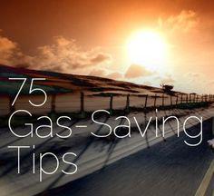 An extensive list!!! 75 Gas-Saving Driving Tips