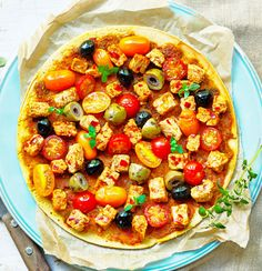 Vegan Mediterranean Socca: Socca is a cross between a pancake and a flatbread, made from chickpea flour it is high in protein and fiber. => Recipe => http://www.quorn.us/recipes/vegan-mediterranean-socca/