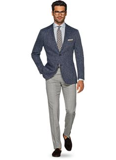 Suitsupply Jackets: We couldn't be more proud of our tailored jackets. The soft shoulders, Italian fabrics, impeccable slim fit—just a few reasons you should check out our latest arrivals! Mens Fashion Suits, Mens Suits, Stylish Men, Men Casual, Blue Suit Jacket, Fashion Moda, Men's Fashion, Men Formal, Dapper Men