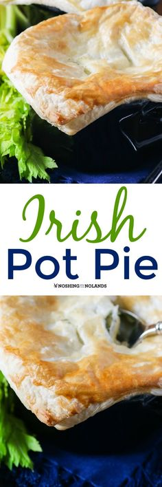 Irish Pot Pie from Noshing With The Nolands is a delectable addition to your dinner table for St. Patrick's Day or any day of the year! by katheryn Scottish Recipes, Irish Recipes, Italian Recipes, St Patricks Day Food, International Recipes, Casserole Recipes, Holiday Recipes, Dinner Recipes, Dinner Table