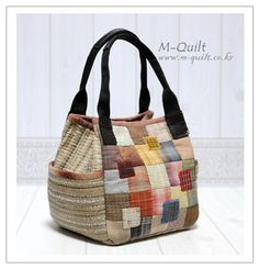 Patchwork Bags, Quilted Bag, Japanese Bag, Fabric Bags, Patch Quilt, Sewing Tutorials, Pouches, Fabric Crafts, Hand Sewing