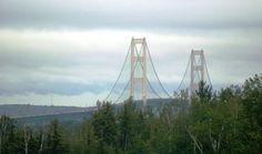 That feeling you get when heading north on I-75 and see the Mackinac Bridge, pure bliss.